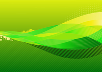 Vector illustration - abstract background made of green splashes and curved lines 60016008849| 写真素材・ストックフォト・画像・イラスト素材|アマナイメージズ