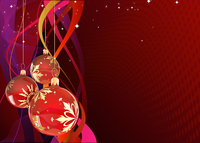 Vector illustration of red Holiday card with christmas balls on the abstract lines background 60016008854| 写真素材・ストックフォト・画像・イラスト素材|アマナイメージズ