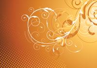 Vector illustration of brown Floral Decorative background 60016008874| 写真素材・ストックフォト・画像・イラスト素材|アマナイメージズ