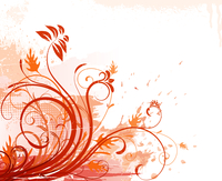 Vector illustration of orange Grunge Floral Background 60016008902| 写真素材・ストックフォト・画像・イラスト素材|アマナイメージズ