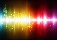 Vector illustration of futuristic abstract glowing music background 60016009123| 写真素材・ストックフォト・画像・イラスト素材|アマナイメージズ