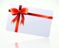 Vector illustration of decorated gift card with red ribbons and bow 60016009138| 写真素材・ストックフォト・画像・イラスト素材|アマナイメージズ