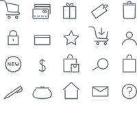 Vector illustration of original e-commerce Icon Set, good for web, software etc. 60016009149| 写真素材・ストックフォト・画像・イラスト素材|アマナイメージズ
