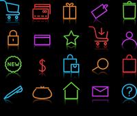 Vector illustration of neon original e-commerce Icon Set, good for web, software etc. 60016009150| 写真素材・ストックフォト・画像・イラスト素材|アマナイメージズ