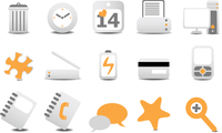 Vector illustration of different  Website and Internet icons