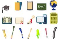 Vector illustration of academy/educational icons set. 60016009246| 写真素材・ストックフォト・画像・イラスト素材|アマナイメージズ