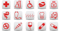 Vector illustration of medecine icons .You can use it for your website, application or presentation