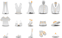 Vector illustration set of fashion  Clothing and Accessories Icons