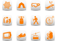 Vector illustration of winter camping/ski icons .You can use it for your website, application or presentation