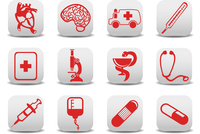 Vector illustration of medicine icons .You can use it for your website, application or presentation