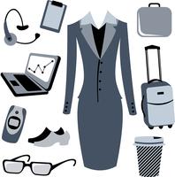 Vector illustration of bussiness woman accessories set. 60016009284| 写真素材・ストックフォト・画像・イラスト素材|アマナイメージズ