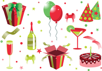 Vector illustration of funny birthday icons. Suitable for birthday cards and invotations. 60016009295| 写真素材・ストックフォト・画像・イラスト素材|アマナイメージズ