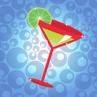 Vector illustration of the cocktail with lemon on the cute background. 60016009299| 写真素材・ストックフォト・画像・イラスト素材|アマナイメージズ