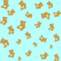 Cartoon vector illustration of  retro funky background with Cute little teddy bears