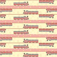 Cartoon vector illustration of retro funky background with cool little trains 60016009356| 写真素材・ストックフォト・画像・イラスト素材|アマナイメージズ