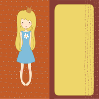 Vector Illustration of retro design greeting card with copy space for your text