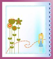 Vector Illustration of retro design greeting card