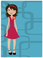 Vector Illustration of cool retro girl 60016009428| 写真素材・ストックフォト・画像・イラスト素材|アマナイメージズ
