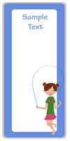 Vector Illustration of cool invitation frame with funky Young girl