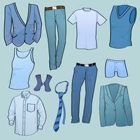 Vector illustration of cool Men clothes icon set 60016009499  写真素材・ストックフォト・画像・イラスト素材 アマナイメージズ