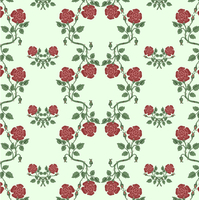 Vector illustration of beautiful retro floral background