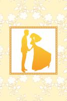 Vector Illustration of funky wedding invitation with funny bride and groom 60016009533| 写真素材・ストックフォト・画像・イラスト素材|アマナイメージズ