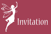 Vector illustration of funky invitation with cool fairy