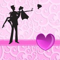 Vector illustration of funky wedding invitation with cool sexy couple 60016009553| 写真素材・ストックフォト・画像・イラスト素材|アマナイメージズ
