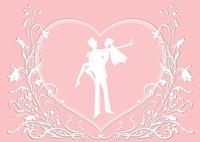 Vector illustration of funky wedding invitation with cool sexy couple 60016009554| 写真素材・ストックフォト・画像・イラスト素材|アマナイメージズ