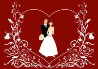 Vector illustration of funky wedding invitation with cool sexy couple 60016009560| 写真素材・ストックフォト・画像・イラスト素材|アマナイメージズ