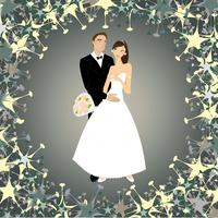 Vector illustration of funky wedding invitation with cool sexy couple 60016009561| 写真素材・ストックフォト・画像・イラスト素材|アマナイメージズ