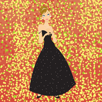 Vector Illustration of beautiful women in the evening dress 60016009573| 写真素材・ストックフォト・画像・イラスト素材|アマナイメージズ