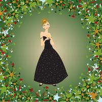 Vector Illustration of beautiful women in the evening dress 60016009574| 写真素材・ストックフォト・画像・イラスト素材|アマナイメージズ