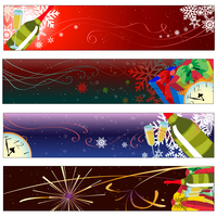 Vector illustration of Colorful new year party banners 60016009610  写真素材・ストックフォト・画像・イラスト素材 アマナイメージズ