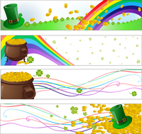 Vector illustration of Colorful saint patrick day  party banners