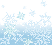 Vector illustration of blue Abstract Winter background with many different falling stylish snowflakes 60016009636| 写真素材・ストックフォト・画像・イラスト素材|アマナイメージズ