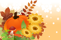 Vector illustration of bright thanksgiving day autumn background