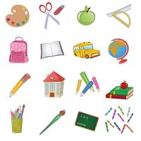 Vector illustration of cool Back to school icons set 60016009656| 写真素材・ストックフォト・画像・イラスト素材|アマナイメージズ