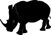 Vector illustration of a rhinoceros
