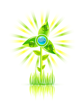 Vector green windmill concept