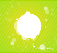 Green nature silhouette background
