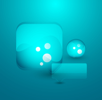Blue bubble. Vector abstract background