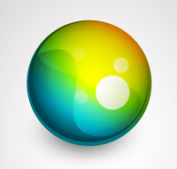 Abstract vector sphere button