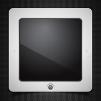 Stylized tablet computer isolated on black
