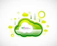 Clean cloud green space concept