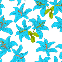 Seamless  background with flower lily. Could be used as seamless wallpaper, textile, wrapping paper or background 60016011092| 写真素材・ストックフォト・画像・イラスト素材|アマナイメージズ