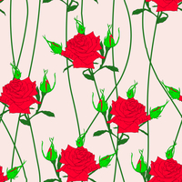 Seamless  background with flower roses. Could be used as seamless wallpaper, textile, wrapping paper or background 60016011110| 写真素材・ストックフォト・画像・イラスト素材|アマナイメージズ