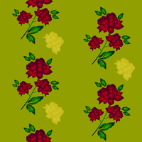 Seamless wallpaper  a seam with flower and leaves eps10 60016011113| 写真素材・ストックフォト・画像・イラスト素材|アマナイメージズ