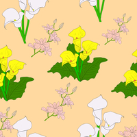 Seamless background with flower . Could be used as seamless wallpaper, textile, wrapping paper or background 60016011130| 写真素材・ストックフォト・画像・イラスト素材|アマナイメージズ