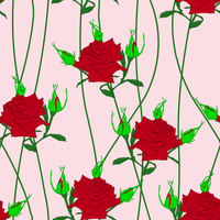 Seamless  background with flower roses. Could be used as seamless wallpaper, textile, wrapping paper or background 60016011141| 写真素材・ストックフォト・画像・イラスト素材|アマナイメージズ